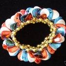 Mardi Gras USA New Orleans Bracelet RED WHITE BLUE FUN