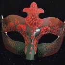 Venetian Mask Mardi Gras Man Masquerade Crimson Samba