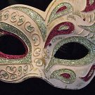 Venetian Mask Antique Flame Pink Halloween Carnival