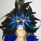 Blueberries & Cream Mardi Gras Mask New Orleans Party Masquerade Feather Prom