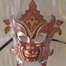 Gladiator Red VENETIAN Mask Halloween Mardi Gras Carnival Costume Prom Party