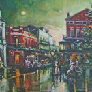 Retro Moon New Orleans Jackson Square Baltas Matted Art Print French Quarter