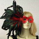 SCARLET & Feathers Party Masquerade Mardi Gras Mask