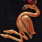 Metal Flamingo Laua Mardi Gras Beads New Orleans