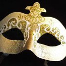 Goldilocks Ivory & Gold Glitter Masquerade Party Mask