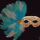 Saphire & Ice Silver Sequin Mask Masquerade Mardi Gras