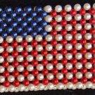 Bead Purse Mardi Gras CHOICE Texas USA Flag Rainbow Costume Purse Made of Beads