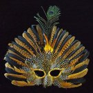 Feather Mask Broadway YOUR COLOR CHOICE Mardi Gras New Orleans Halloween Prom