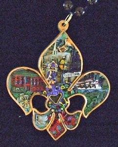 Fleur de Lis Mardi Gras Bead Necklace YOUR CHOICE MANY STYLES New Orleans Party