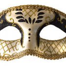 Venetian Eye Mask Black & Gold Costume Prom Party Mardi Gras New Orleans
