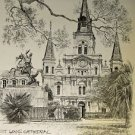 St Louis Cathedral Don Davey New Orleans Matted Art Print French Quareter