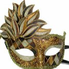 Venetian Mask Cascade Earth Tones Harlequin Halloween Mardi Gras Costume Party