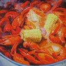 Crawfish Boil Corn New Orleans Baltas Matted Art Print Louisiana Seafood