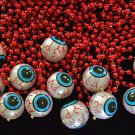 One Dozen (12) Eye Ball Necklace Mardi Gras Eyeballs Halloween Party Costume