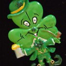Shamrock Drinking Irish Mardi Gras Bead Necklace New Orleans Beads Carnival