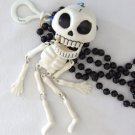 Human Skeleton Mardi Gras Beads New Orleans Bead Scary Skull Bones Halloween