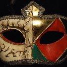 Venetian Mask Mardi Gras Man Masquerade Gold Samba