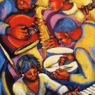 Summer Heat Jazz New Orleans Art Print Red Matte