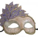 Venetian Mask Cascade Pink Purple Silver Mardi Gras Masquerade Costume Prom