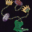 Pass a Good Time Mardi Gras Bead Necklace YOUR CHOICE New Orleans Beads Parade