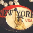 New York Mardi Gras Necklace Medallion Bead Authentic