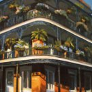 Balcony With Ferns New Orleans Art Print Matted Print