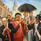 New Orleans Jazz Players  Baltas Matted Art Print French Quarter Pete Fountain
