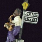 SAX PLAYER BOURBON STREET LIGHT Mardi Gras Beads Party