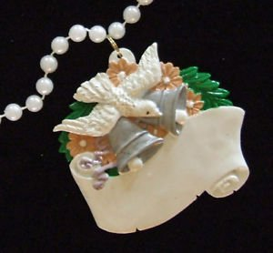 Wedding Bells with Dove Beads GIFT New Orleans White