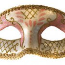 Venetian Eye Mask Pink Costume Prom Party Mardi Gras New Orleans