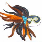 French Quarter Night Masquerade Ball Party Mask Feather