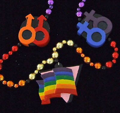 RAINBOW GAY PRIDE New Orleans Mardi Gras Party Beads