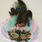 Pastel Mardi Gras Feather Masquerade Party Mardi Gras Costume Party Prom