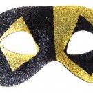 Venetian Eye Mask Glitter Black & Gold Costume Prom Party Mardi Gras