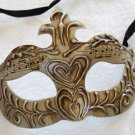 Golden Oak Masquerade Ball Venetian Party Mask Music New Orleans