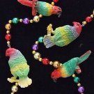 Parrots Colorful Mardi Gras New Orleans Bead Necklace