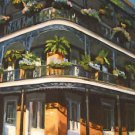 Two Tier French Quarter Home New Orleans Art Print Matted Print Baltas