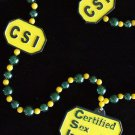 CSI Certified Sex Instructor Mardi Gras Costume Beads