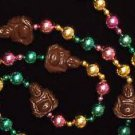 Chocolate Budda Mardi Gras Beads New Orleans Detailed