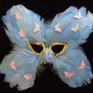 Butterly Feather Masquerade Ball Party Mask Light Blue New Orleans Prom Costume