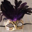 Eye Mask Purple with Jewel Costume Prom Mardi Gras New Orleans Party Masquerade