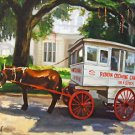 Roman Candy Horse and Cart New Orleans Baltas Matted Art Print French Quarter