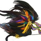 Feather Mask Purple Rainbow Mardi Gras Masquerade Ball Decor Party Prom Gay