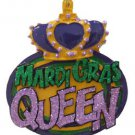 Mardi Gras Queen Purple Green Gold Bead Necklace New Orleans Beads