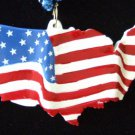 AMERICAN FLAG Mardi Gras Beads USA COUNTRY PATRIOT Politics Election