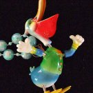 Bobble Head PELICAN Mardi Gras Beads Moves Animated Fun