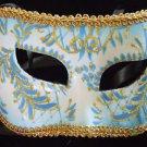 Leipzig Mask Mardi Gras Party Costume Venetian Blue Fun