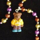PAPA MOMMA BABY BEAR Mardi Gras Bead Necklace