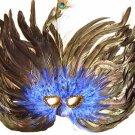Bourbon Street Blues Mardi Gras Ball Party Mask Costume