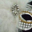 SHOW GIRL Masquerade Halloween Wand Mask Costume Party Mardi Gras Prom Costume
